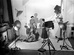 Dian Vreeland art directing fashion shoot for Harper's Bazaar Magazine