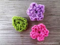 Fiber Flux: Free Crochet Pattern... One Round Leaf (Stemless)