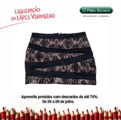 Saia Recorts Renda, de 184,80 por R$89,80 na Coupom do @meupatiosavassi. #LLV