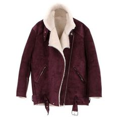Furry Big Lapel Coat with Waistband (€110) ❤ liked on Polyvore featuring outerwear, coats, jackets, tops, faux fur coat, purple coat, purple faux fur coat, lapel coats and fake fur coat