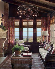 Salon convivial de cette maison de charme rustique
