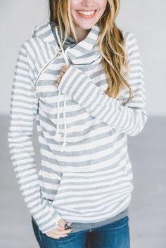*Exclusive DoubleHood™ Sweatshirt - Grey on Grey