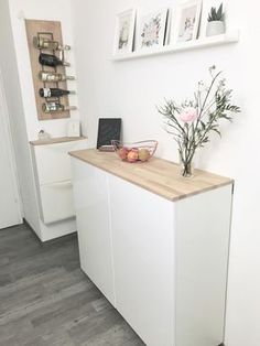 Ikea Hack - Metod wall cabinet as a sideboard part II ⋆ elven .- Ikea Hack – Metod Wandschrank als Sideboard Teil II ⋆ elfenweiss Ikea Hack – Metod wall cabinet as a sideboard part II Ikea Closet Ideas, Ikea Closet Hack, Closet Hacks, Ikea Hack Besta, Tarva Ikea, Ikea Stuva, Kitchen Ikea, Kitchen Cabinets, Kallax Regal