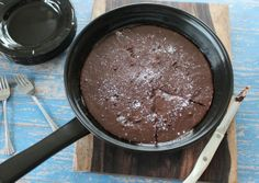 Nutella Chocolate Gluten Free Skillet Brownies - Little Leopard Book.  Gluten free but a LOT of fat and sugar!