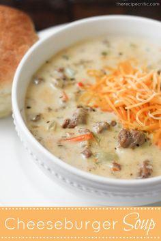 Cheeseburger Soup..award winning, excellent soup!