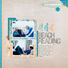 Beach Reading by scrappyJedi at Studio Calico