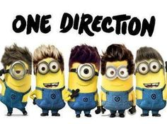 One Direction *-* So Cute!!! Dispicable Me Minions
