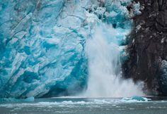 Melting glaciers in Alaska