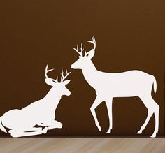 Deer Vinyl Wall Decals Rustic home decor for Lodge, Hunting Cabin and Boys Bedroom on Etsy, $49.00