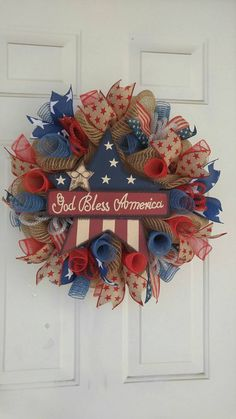 Check out this item in my Etsy shop https://www.etsy.com/listing/286271797/rustic-patriotic-wreath-4th-of-july