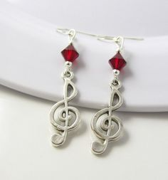 Treble Clef Earrings Treble Clef Jewelry Music by BeadBrilliant