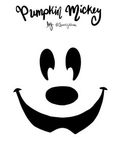 Disneyland Mickey Pumpkin Carving Stencil - Sparkly Ever After Mickey Halloween Party, Disney Halloween Decorations, Halloween Birthday, Holidays Halloween, Scary Halloween, Vintage Halloween, Disney Holidays, Disneyland Halloween, Halloween Labels