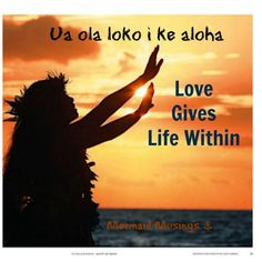 Aloha sayings: love gives life within. Words tattooed with lei and butterflies on Lucy's ankle. Aloha Hawaii, Hawaii Travel, Hawaii Life, Manado, Hawaiian Phrases, Hawaiian Sayings, Big Island, Island Life, Hawaii Quotes