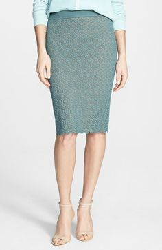 pencil skirt with scalloped hem