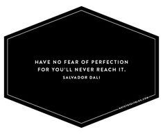 forget about perfection