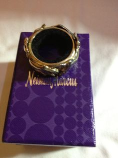 Neiman Marcus Wall Street Toasting Ring (Bull & Bear) silver plated, very detailed. Must see.