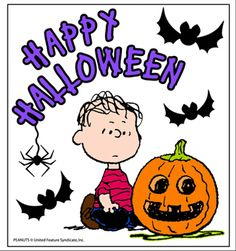 linus on halloween night waiting for the great pumpkin