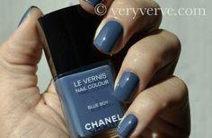 Chanel Blue Boy Nail Polish Swatches Les Jeans Veryverve