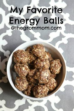 energy balls // via@thegrommom