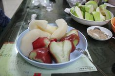 Asian Pears, Lien-Wu, and Guava Only in taiwan