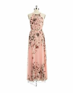 Floral Halter Maxi Dress | Lord and Taylor
