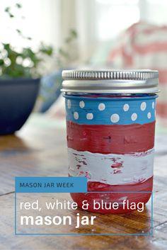 Mason Jar Week- American Flag Mason Jar