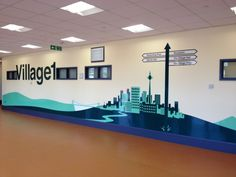 Wall graphics can be designed to fit so many needs, from just artwork to helpful directional signage.