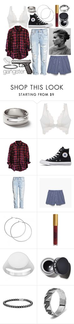 """Gangster"" by leonorgomes on Polyvore featuring Topman, Cosabella, Converse, H&M, MANGO MAN, Lipstick Queen, Monarc Jewellery, Sonia Kashuk, David Yurman and Northskull"