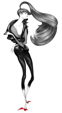 Laura Laine,love her worksFashion Girl Illustration #drawing #sketch #design