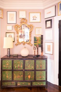 "A Look at Andy and Kate Spade's Art Collection: ""[Decorating the home has] come with time. We really just love the space and started thinking about the pieces that we owned. I've always collected art, even though it's been some stuff from flea markets and antique stores, found stuff, or furniture from the street that we've actually been very lucky finding. We never liked one style in an extreme way. I love minimalism, but I don't live that way."" 
