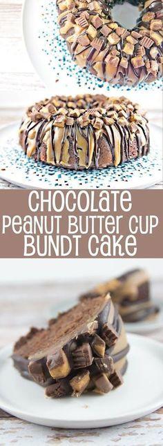 Chocolate Peanut Butter Cup Bundt Cake Recipe on Yummly. /yummly/ #recipe