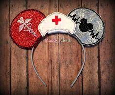 Nurse Mickey Ears, Nurse Minnie Ears, RN Ears