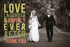 Ever After Wedding Thank You Card Design via Etsy.
