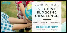 The Student Blogging Challenge runs twice a year. Classes or individual students across the world can take part. It's totally free and a fun way to learn and connect | The Edublogger | Edublogs