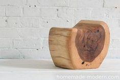 HomeMade Modern Little Log Chair Rustic Log Furniture, Tree Furniture, Diy Furniture Projects, Wood Projects, Log Chairs, Log Stools, Rustic Stools, Homemade Modern, Woodworking Projects For Kids