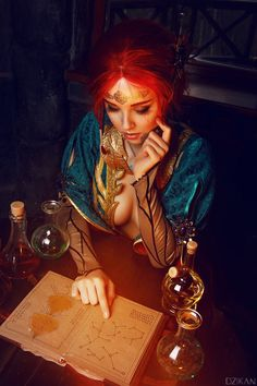 The Witcher 3 - Triss Merigold cosplay by Disharmonica (Helly von Valentine) on DeviantArt Witcher 3 Triss, Witcher Art, Witcher 3 Wild Hunt, Ciri, The Witcher 3, Triss Cosplay, Triss Merigold Cosplay, Video Game Characters, Fantasy Characters