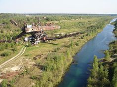 The abandoned Lopatino Phosphate Mines. Located close to the Voskresensk city (70 km from Moscow),