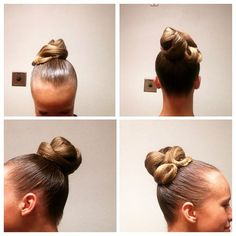 Tremendous High Looped Bun With A Simple Swirl And Slightly Poofed Bang Swoop Hairstyles For Women Draintrainus