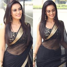 black georgette partywear saree with embroidered blouse - Fabric - georgetteblouse : tapeta silk with heavy work ( unstitched ) Churidar, Patiala, Salwar Kameez, Anarkali, Indian Film Actress, Beautiful Indian Actress, Indian Actresses, Bollywood Saree, Bollywood Actress