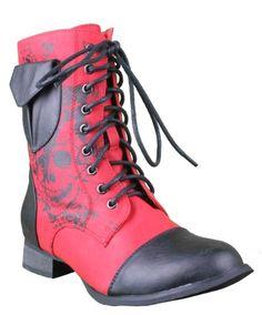 ☆ Iron Fist American Nightmare Red Combat Boot ☆
