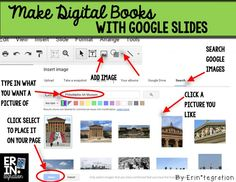 Making digital books with Google Slides - Students use the in-app image search to quickly get pictures for stories and nonfiction textfree