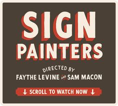 The official website for the featured film Sign Painters.