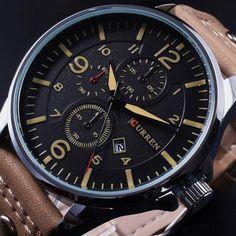 Curren Men's Leather Wrist Sports Watches