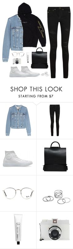 """""""But does she kiss you like I kissed you?"""" by bomlion ❤ liked on Polyvore featuring Acne Studios, Yves Saint Laurent, Ray-Ban, L:A Bruket and Lomography"""