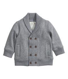 H&M Baby Boy Sweatshirt Cardigan Grey - em azulinho também é lindo! Está na wishlist! Talvez nos saldos! ;)