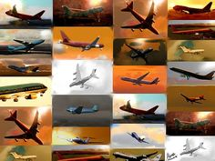 Airplanes - Collage By Marcello Cicchini