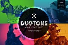 Duotone Collection Photoshop Actions by RockShutter on @creativemarket