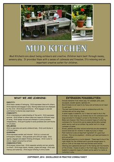 Mud Kitchen Observation Template by KrystleKernot on Etsy
