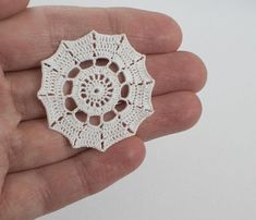 This little white doily would look lovely in a dollhouse as part of the decor. Measures: 3.5cm This is a collectors item only and due to its small scale is not suitable for children. Postage: Free UK postage: orders under £20 will be posted 2nd class whilst orders over £20 will
