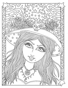 5 Pages magical Witches Halloween magic Coloring pages Digital Vixen Halloween, Misfits Halloween, Chat Halloween, Halloween Magic, Halloween Vampire, Halloween Witches, Halloween Clipart, Adult Coloring Pages, Witch Coloring Pages